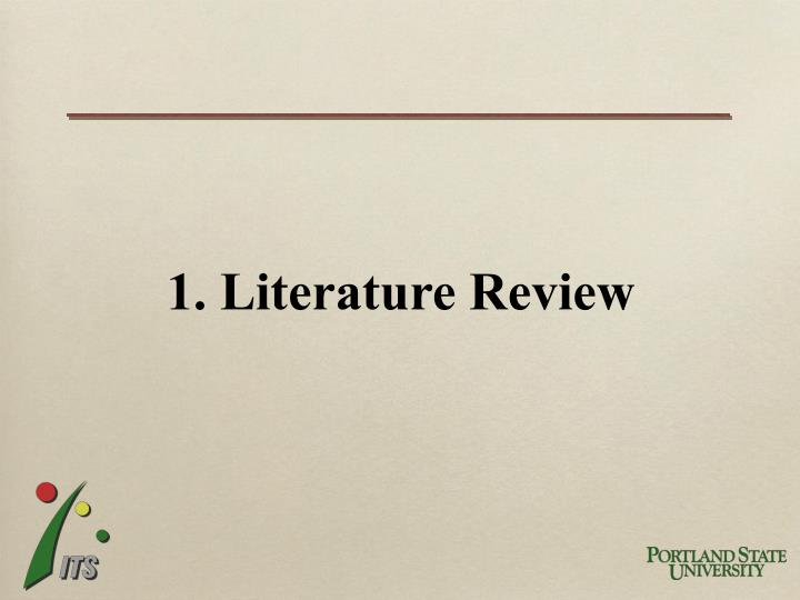 1. Literature Review