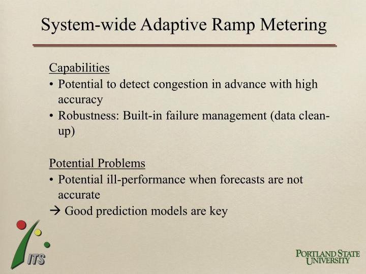 System-wide Adaptive Ramp Metering