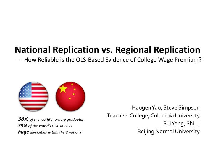 National Replication vs. Regional