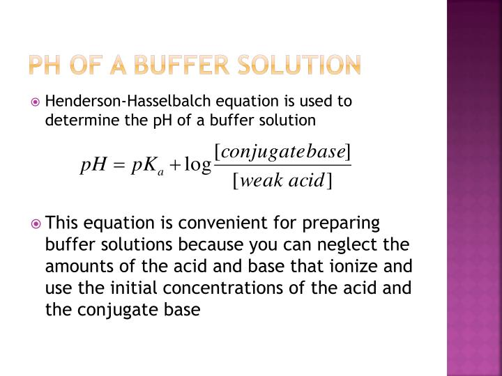 pH of a Buffer Solution