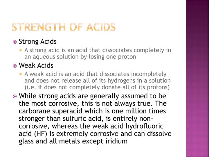 Strength of Acids