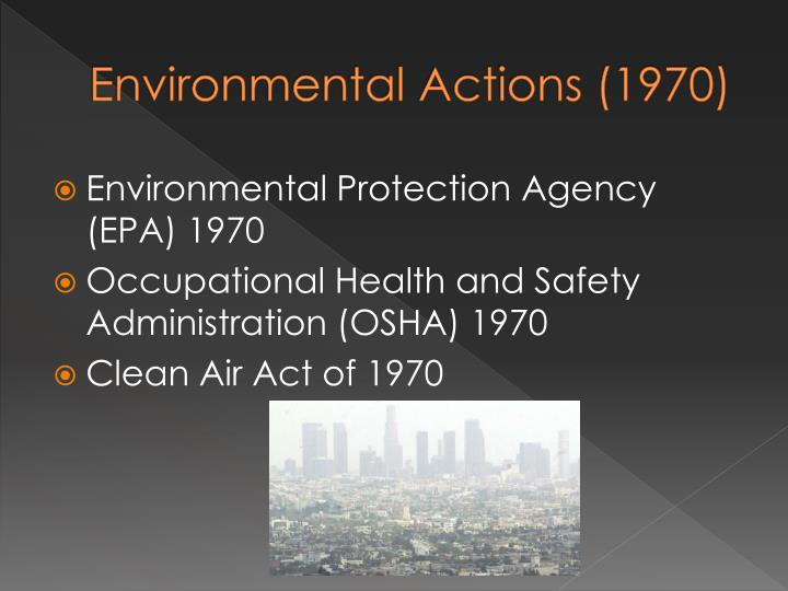 Environmental Actions (1970)
