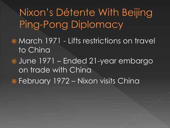 Nixon's Détente With Beijing