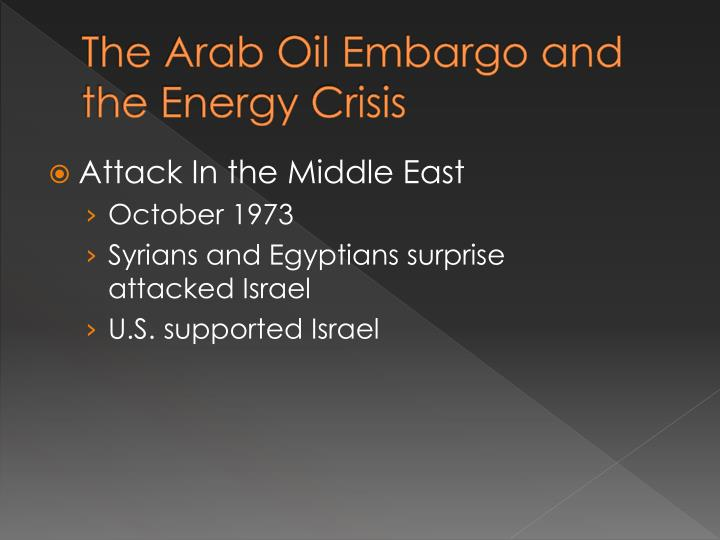 The Arab Oil Embargo and the Energy Crisis