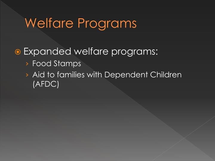 Welfare Programs