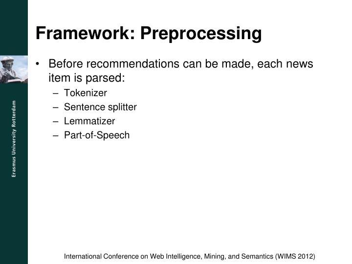Framework: Preprocessing