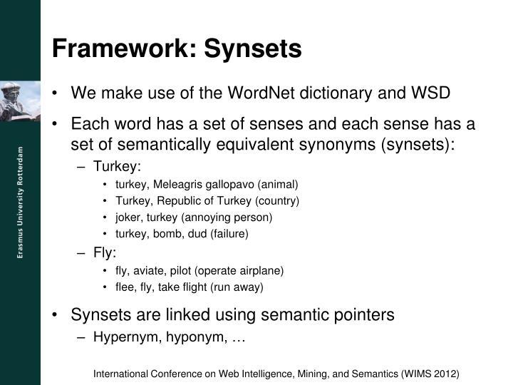 Framework: Synsets