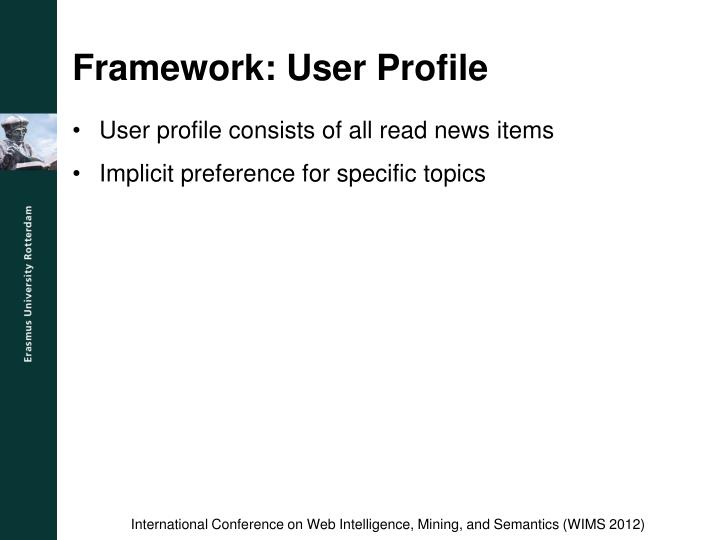Framework: User Profile