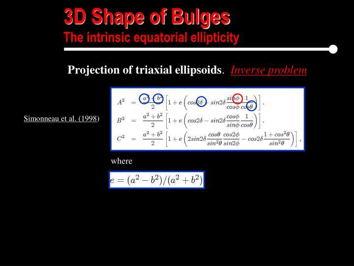 3D Shape of Bulges