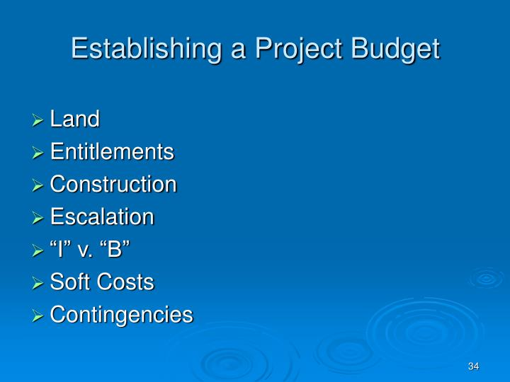 Establishing a Project Budget
