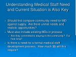 understanding medical staff need and current situation is also key