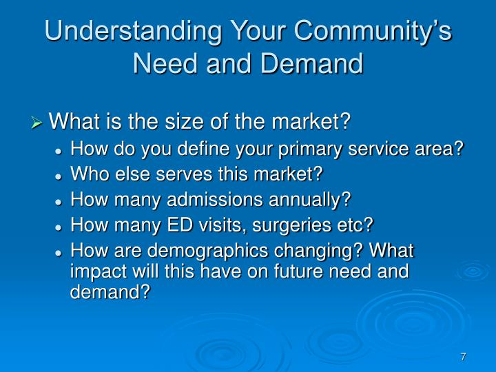 Understanding Your Community's Need and Demand
