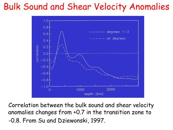 Bulk Sound and Shear Velocity Anomalies