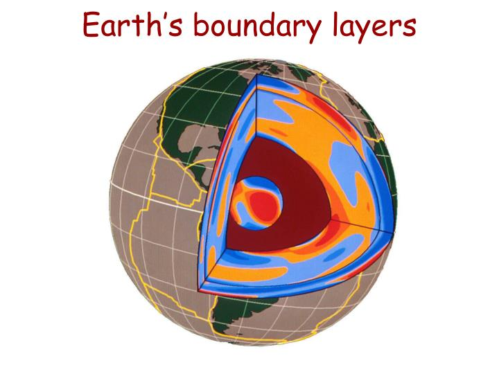 Earth's boundary layers