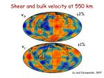 shear and bulk velocity at 550 km