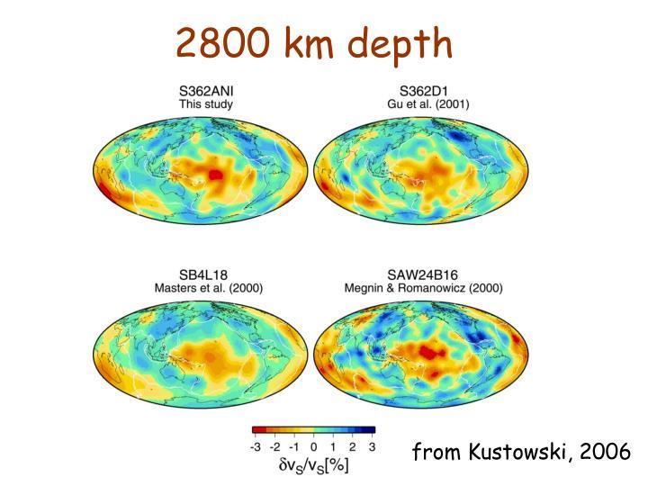 2800 km depth