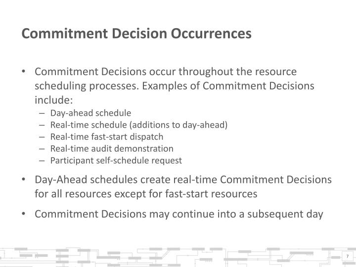 Commitment Decision Occurrences
