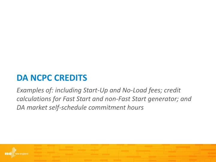 DA NCPC Credits