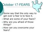 october 17 fears