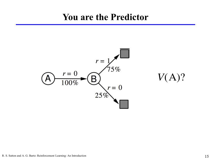 You are the Predictor