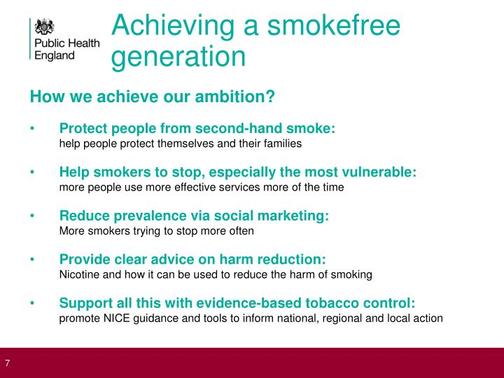 Achieving a smokefree generation