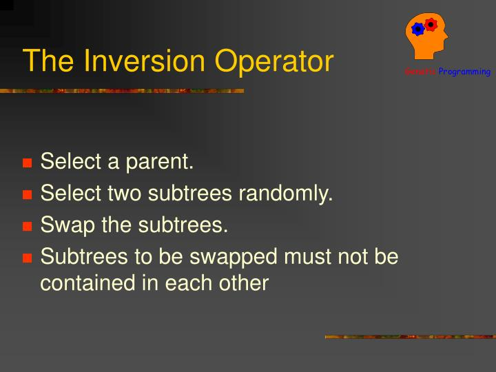 The Inversion Operator