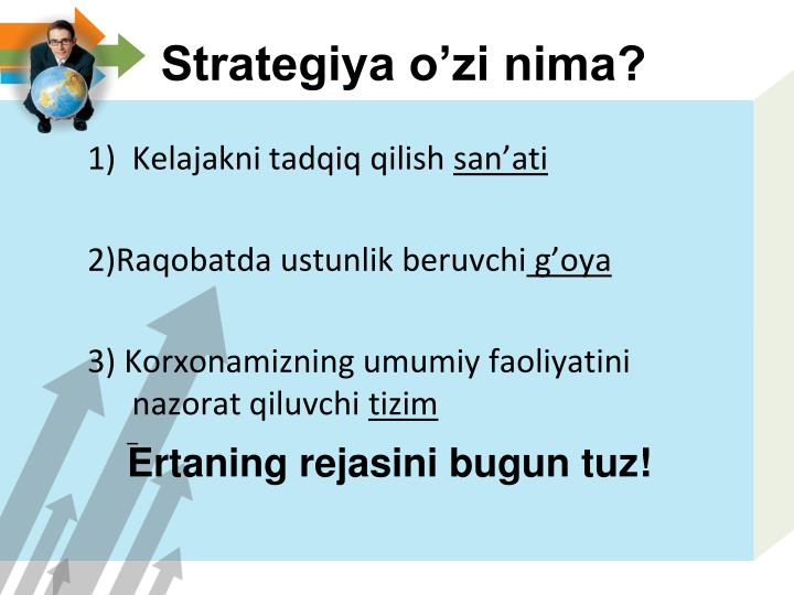 Strategiya o'zi nima?
