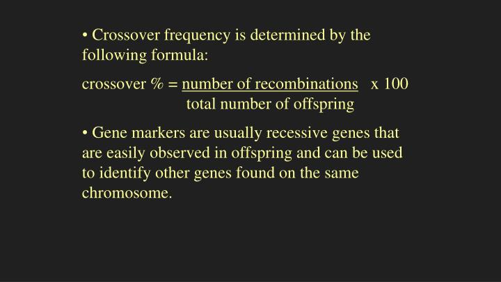 Crossover frequency is determined by the following formula: