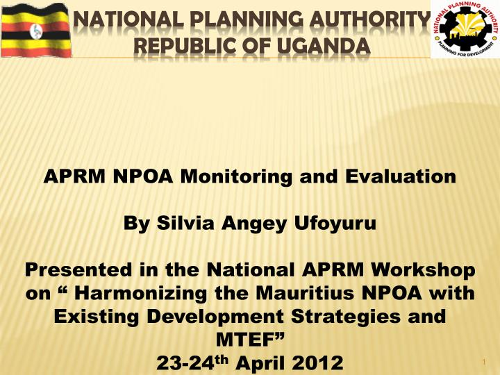 National planning authority republic of uganda