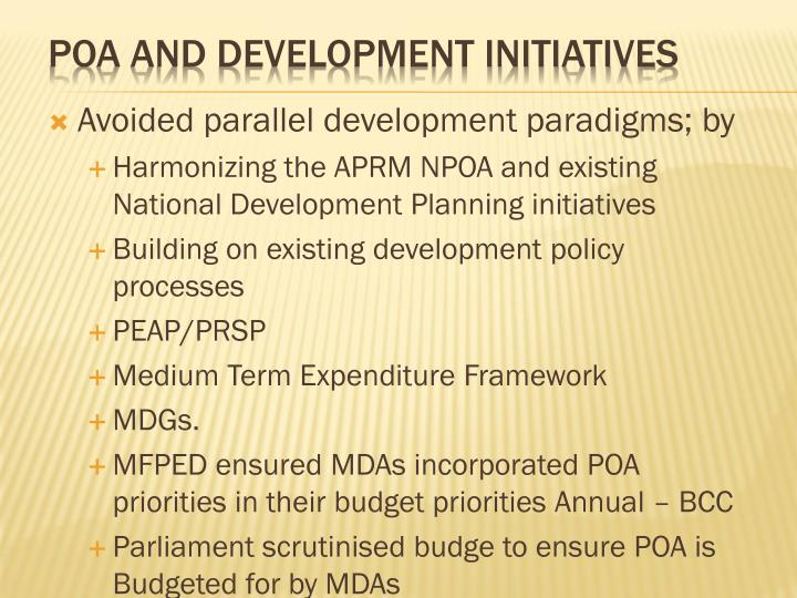 PoA and Development Initiatives