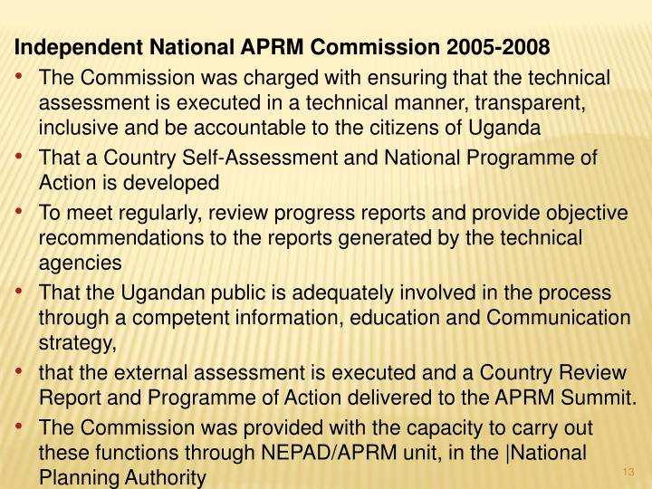 Independent National APRM Commission 2005-2008