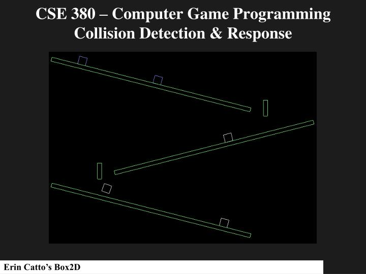 cse 380 computer game programming collision detection response