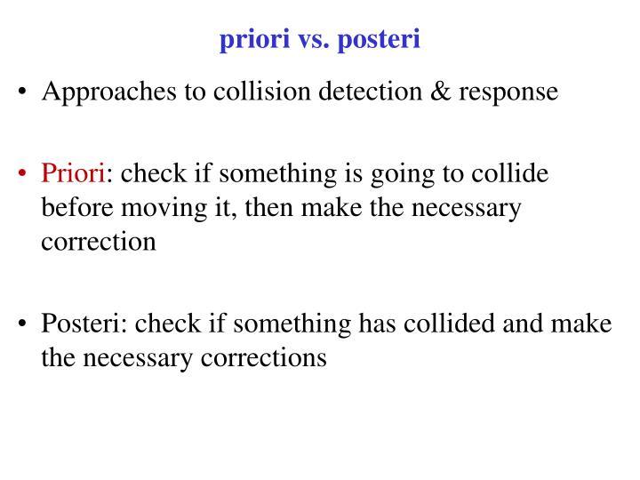 priori vs. posteri