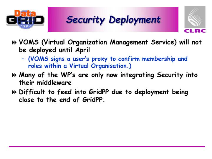 Security Deployment