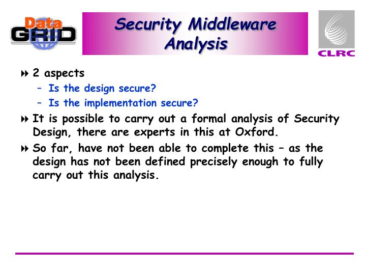 Security Middleware Analysis