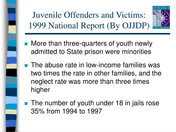 Juvenile Offenders and Victims: 1999 National Report (By OJJDP)