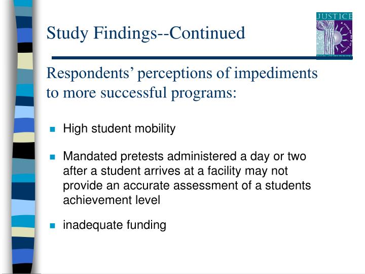 Study Findings--Continued