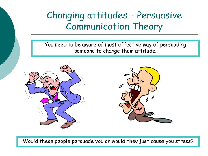 Changing attitudes - Persuasive Communication Theory