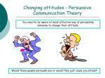 changing attitudes persuasive communication theory