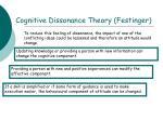 cognitive dissonance theory festinger1