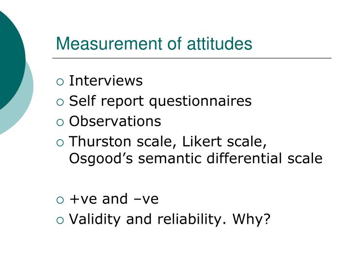 Measurement of attitudes