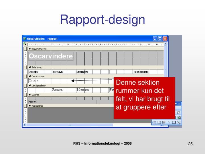 Rapport-design