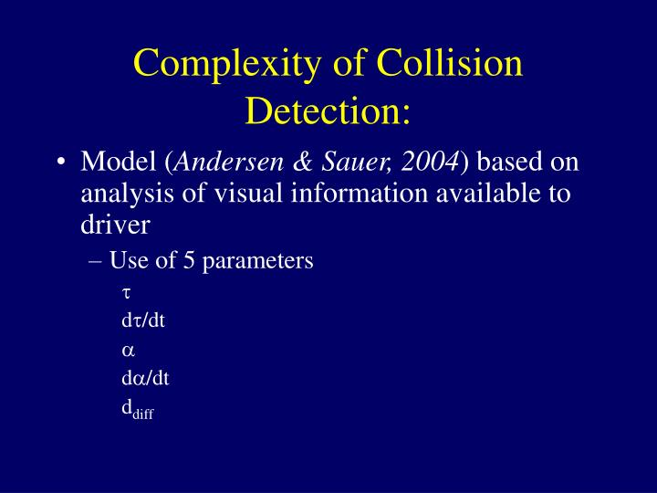 Complexity of Collision Detection: