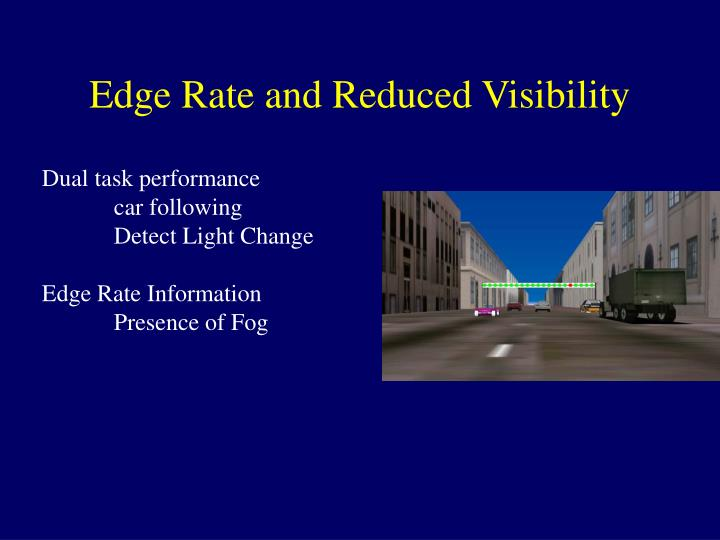 Edge Rate and Reduced Visibility