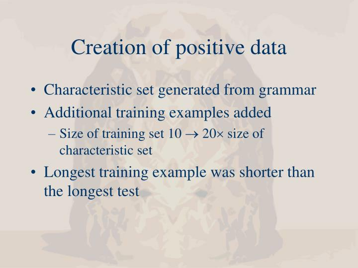 Creation of positive data