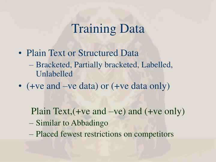 Training Data