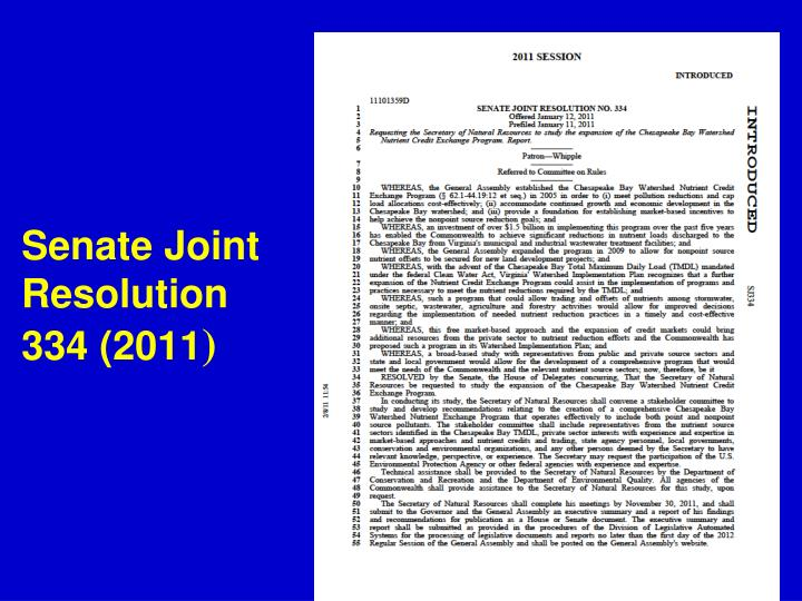 Senate Joint Resolution 334 (2011