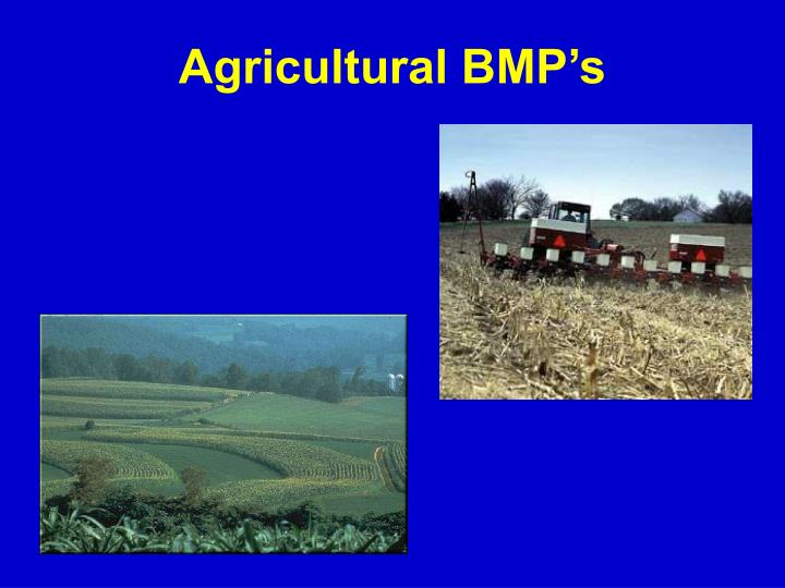 Agricultural BMP's