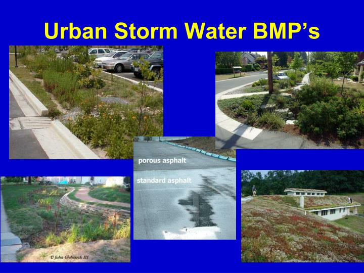 Urban Storm Water BMP's