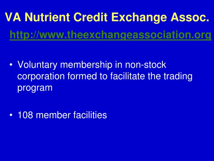 VA Nutrient Credit Exchange Assoc.